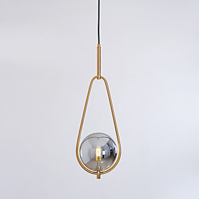 billige Hengelamper-Anheng Lys Omgivelseslys galvanisert Metall Glass Justerbar 110-120V / 220-240V Varm Hvit