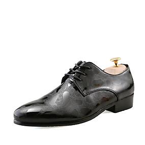 Χαμηλού Κόστους Αντρικά Oxford-Ανδρικά Τα επίσημα παπούτσια PU Ανοιξη καλοκαίρι / Φθινόπωρο & Χειμώνας Oxfords Αναπνέει Χρυσό / Μαύρο / Ασημί