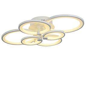 abordables Luces de Techo y Ventiladores-6 cabezas de estilo moderno, acrílico, lámpara de techo, lámpara de techo, empotrada en el techo, sala de estar, comedor, dormitorio, lámpara