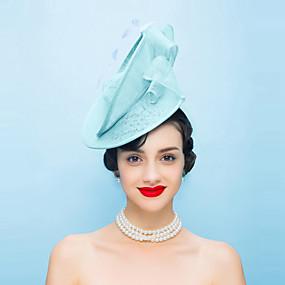 povoljno Kentucky Derby Hat-Lan / Perje Kentucky Derby Hat / Fascinators / kape s 1 Vjenčanje / Special Occasion / Kauzalni Glava