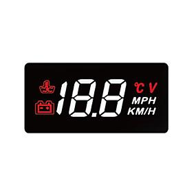 Недорогие Дисплей на лобовое стекло-obd hud цифровой универсальный проекционный дисплей дисплей температуры автомобиля грузовик спидометр