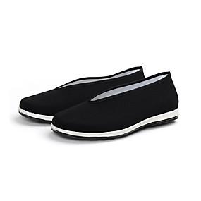 baratos Sapatilhas e Mocassins Masculinos-Homens Sapatos Confortáveis Algodão Verão Casual Mocassins e Slip-Ons Respirável Preto