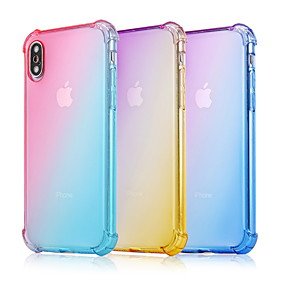 cheap iPhone Cases-Case For Apple iPhone XS Max / iPhone 6 Shockproof Back Cover Color Gradient Soft TPU for iPhone XS / iPhone XR / iPhone XS Max