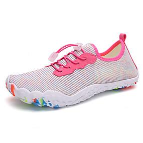 baratos Sapatos Náuticos Masculinos-Homens Sapatos Confortáveis Com Transparência Verão Casual Sapatos de Barco Caminhada Respirável Botas Cano Médio Preto / Azul / Rosa claro