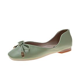 voordelige Damesschoenen met platte hak-Dames Platte schoenen Platte hak Gesloten teen PU Zomer Geel / Groen / Roze