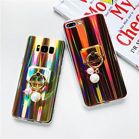 billige Mobilcovers-Etui Til Samsung Galaxy J7 Prime / J7 (2017) / J7 (2016) Ringholder / Glitterskin Bagcover Glitterskin / Farvegradient Blødt TPU