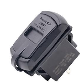 abordables Nouvelles arrivées en août-imperméabiliser 4.2a 5v double 2 usb chargeur prise adaptateur secteur avec voltmètre pour moto de voiture