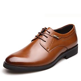 baratos Oxfords Masculinos-Homens Sapatos formais Couro Primavera Verão / Outono & inverno Oxfords Preto / Marron