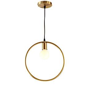 abordables Plafonniers-QIHengZhaoMing Lampe suspendue Lumière d'ambiance Laiton Métal 110-120V / 220-240V Blanc Crème