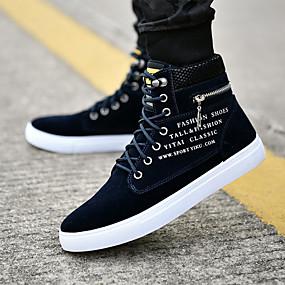 baratos Botas Masculinas-Homens Fashion Boots Camurça Primavera / Outono Botas Botas Curtas / Ankle Azul Escuro / Vinho / Khaki