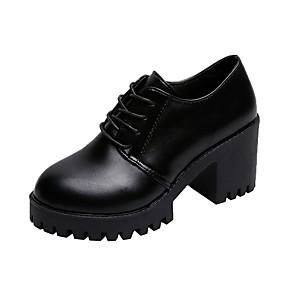 voordelige Dames Oxfords-Dames Oxfords Comfort schoenen Blokhak PU Informeel Zomer Zwart