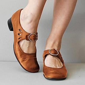 voordelige Damesschoenen met platte hak-Dames Platte schoenen Lage hak Ronde Teen PU Zomer Zwart / Rood / Blauw
