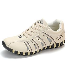 voordelige Damessneakers-Dames Sneakers Platte hak Ronde Teen PU Informeel Hardlopen Herfst / Lente zomer Wit / Zwart / Beige