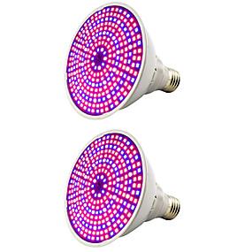 billige LED Økende Lamper-2 stk rød og blå lys samarbeidslampe fullt spektrum førte plantevekst belysning fyll lys grønnsak blomsterkrukke potte cannabis innendørs avl 25w ac85-265v