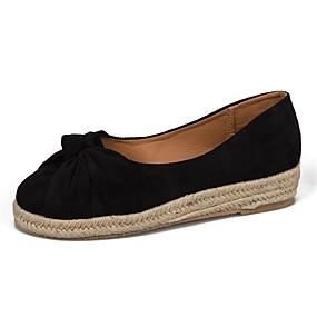voordelige Damesinstappers & loafers-Dames Loafers & Slip-Ons Creepers Suède / PU Zoet Zomer Zwart / Roze