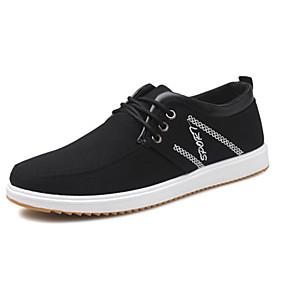 baratos Tênis Masculino-Homens Sapatos Confortáveis Lona / Algodão Outono / Primavera Verão Tênis Preto / Azul / Cinzento