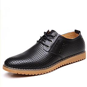 baratos Oxfords Masculinos-Homens Sapatos Confortáveis Sintéticos Primavera Verão Oxfords Preto / Marron / Khaki
