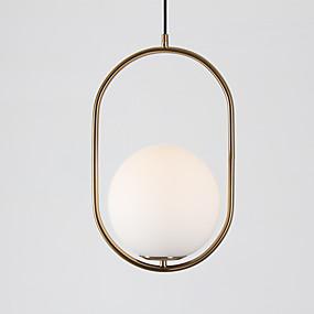 abordables Plafonniers-Globe Lampe suspendue Lumière d'ambiance Laiton Antique Plaqué Verre Verre 110-120V / 220-240V