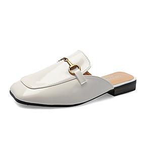 voordelige Damesinstappers & loafers-Dames Loafers & Slip-Ons Slippers Platte hak Gesloten teen PU minimalisme Wandelen Zomer Zwart / Beige / Kameel