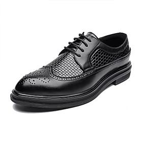 baratos Oxfords Masculinos-Homens Sapatos formais Sintéticos Outono / Primavera Verão Oxfords Preto / Casamento