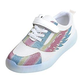 voordelige Damessneakers-Dames Sneakers Platte hak PU Lente & Herfst Wit / Zwart / Roze