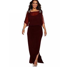 povoljno Crvene haljine-Žene Osnovni Korice Haljina Jednobojni Maxi