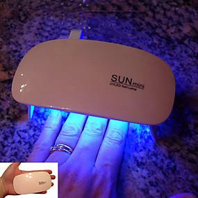 voordelige Nageldrogers & Lampen-draagbare mini 6w led lamp nageldroger usb charge 45s 60s timer led light sneldrogende nagels gel manicure voor nail art