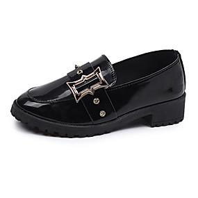 voordelige Damesinstappers & loafers-Dames Loafers & Slip-Ons Blok hiel Lakleer Zomer Zwart