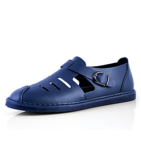 baratos Sapatos Náuticos Masculinos-Homens Sapatos de Condução Microfibra Verão Sapatos de Barco Respirável Preto / Branco / Azul