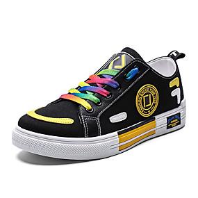 povoljno Muške tenisice-Muškarci Udobne cipele Platno Ljeto Sneakers Prozračnost Obala / Crn