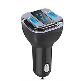 abordables Nouvelles arrivées en août-voiture gps tracker locator en temps réel dispositif de suivi dual usb chargeur de voiture voltmètre