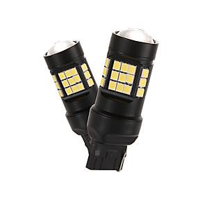 abordables Nouvelles arrivées en août-2pcs 12-24v 15w 7440/7443 high-lights led feux de stop lampe indicateur 2835 36smd automobile feux arrière modèles7440