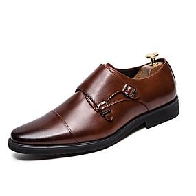 baratos Oxfords Masculinos-Homens Sapatos de couro Couro Ecológico Verão Oxfords Preto / Marron