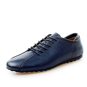 baratos Oxfords Masculinos-Homens Sapatos Confortáveis Pele Verão Oxfords Branco / Amarelo / Azul Escuro