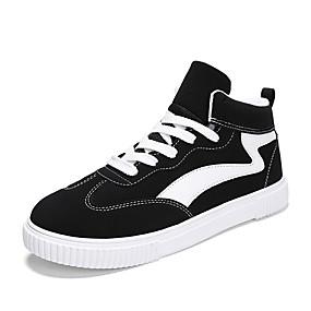 baratos Tênis Masculino-Homens Sapatos Confortáveis Couro Ecológico Primavera / Outono Casual Tênis Aumento de altura Preto / Branco / Preto / Preto / Vermelho