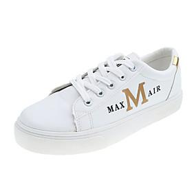 voordelige Damessneakers-Dames Sneakers Creepers Ronde Teen PU Lente & Herfst Goud / Zilver / Regenboog