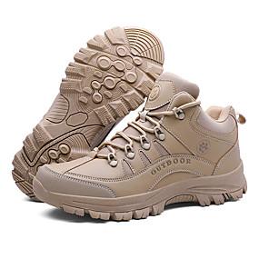 baratos Sapatos Esportivos Masculinos-Homens Sapatos Confortáveis Com Transparência / Couro Ecológico Verão / Outono Esportivo / Casual Tênis Aventura / Caminhada Respirável Preto / Khaki / Atlético / Use prova