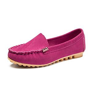 voordelige Damesschoenen met platte hak-Dames Platte schoenen Platte hak Ronde Teen Canvas Zomer Zwart / Fuchsia / Geel