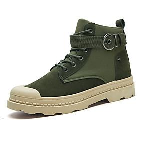 זול מגפיים לגברים-בגדי ריקוד גברים Fashion Boots קנבס אביב / סתיו חורף בריטי / פרפי מגפיים הליכה ללא החלקה שחור / ירוק / חאקי