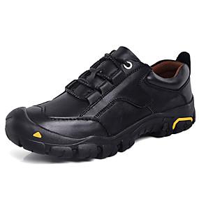 hesapli Erkek Atletik Ayakkabıları-Erkek Ayakkabı Nappa Leather Bahar / Sonbahar Kış İş / Günlük Atletik Ayakkabılar Dağ Yürüyüşü / Yürüyüş Günlük / Dış mekan için Siyah / Kahverengi