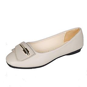voordelige Damesschoenen met platte hak-Dames Platte schoenen Platte hak Vierkante Teen Imitatieleer / PU Herfst / Lente zomer Zwart / Beige