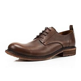 baratos Oxfords Masculinos-Homens Sapatos formais Couro Outono & inverno Oxfords Preto / Café