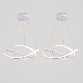 billige Hengelamper-2ps moderne lyslysekroner med ekstern selvlysende lys er egnet for restauranten