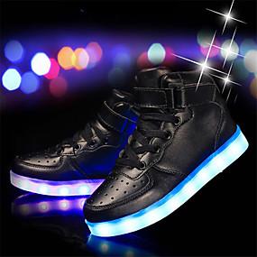 povoljno LED Cipele-Dječaci Koža / PU Sneakers Mala djeca (4-7s) / Velika djeca (7 godina +) Udobne cipele / Svjetleće tenisice Crn / Srebro / Obala Proljeće / Guma