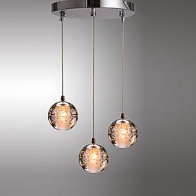 billige Hengelamper-klynge / globus pendellampe omgivelseslys elektroplated metall moderne enkel hengende belysning