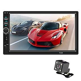 abordables Nouvelles arrivées en août-swm 7018b + 4led camera 7 pouces 2 din audio de voiture multimédia os voiture lecteur mp5 écran tactile / bluetooth intégré pour universel rca / microusb / mpeg / mpg / wmv / mp3 / wma / alac / jpeg