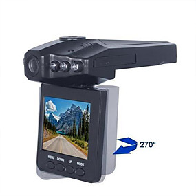 billige 10%OFF-1080p Full HD Bil DVR 120 grader Bred vinkel 2.5 tommers LCD Dash Cam med Night Vision / Loop-opptak Bilopptaker