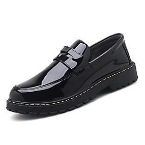 baratos Sapatilhas e Mocassins Masculinos-Homens / Unisexo Sapatos Confortáveis Couro Ecológico Verão Mocassins e Slip-Ons Preto / Vermelho / Festas & Noite