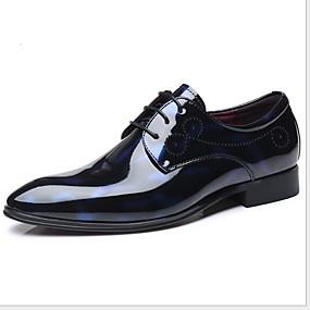 baratos Oxfords Masculinos-Homens Sapatos Confortáveis Couro Ecológico Verão Oxfords Respirável Vermelho / Azul / Cinzento