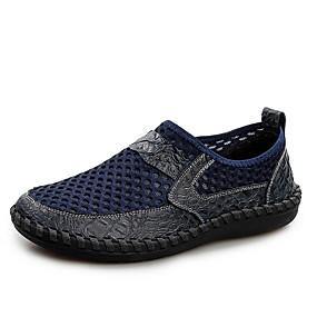 baratos Sapatilhas e Mocassins Masculinos-Homens Sapatos Confortáveis Couro / Com Transparência Verão Mocassins e Slip-Ons Preto / Verde / Azul
